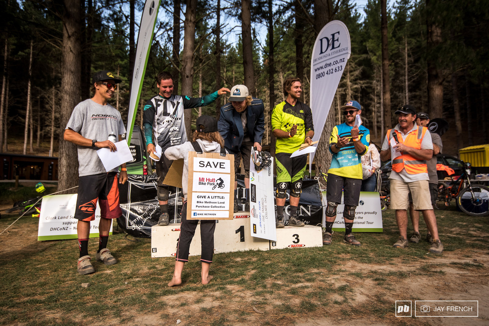 Podium : 1. Bernard Kerr, 2. Rupert Chapman, 3. Mat Walker. Photo © Jay French - Pinkbike
