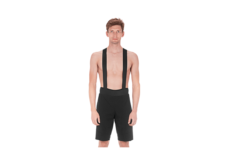CUBE BLACKLINE Baggy Bib Shorts