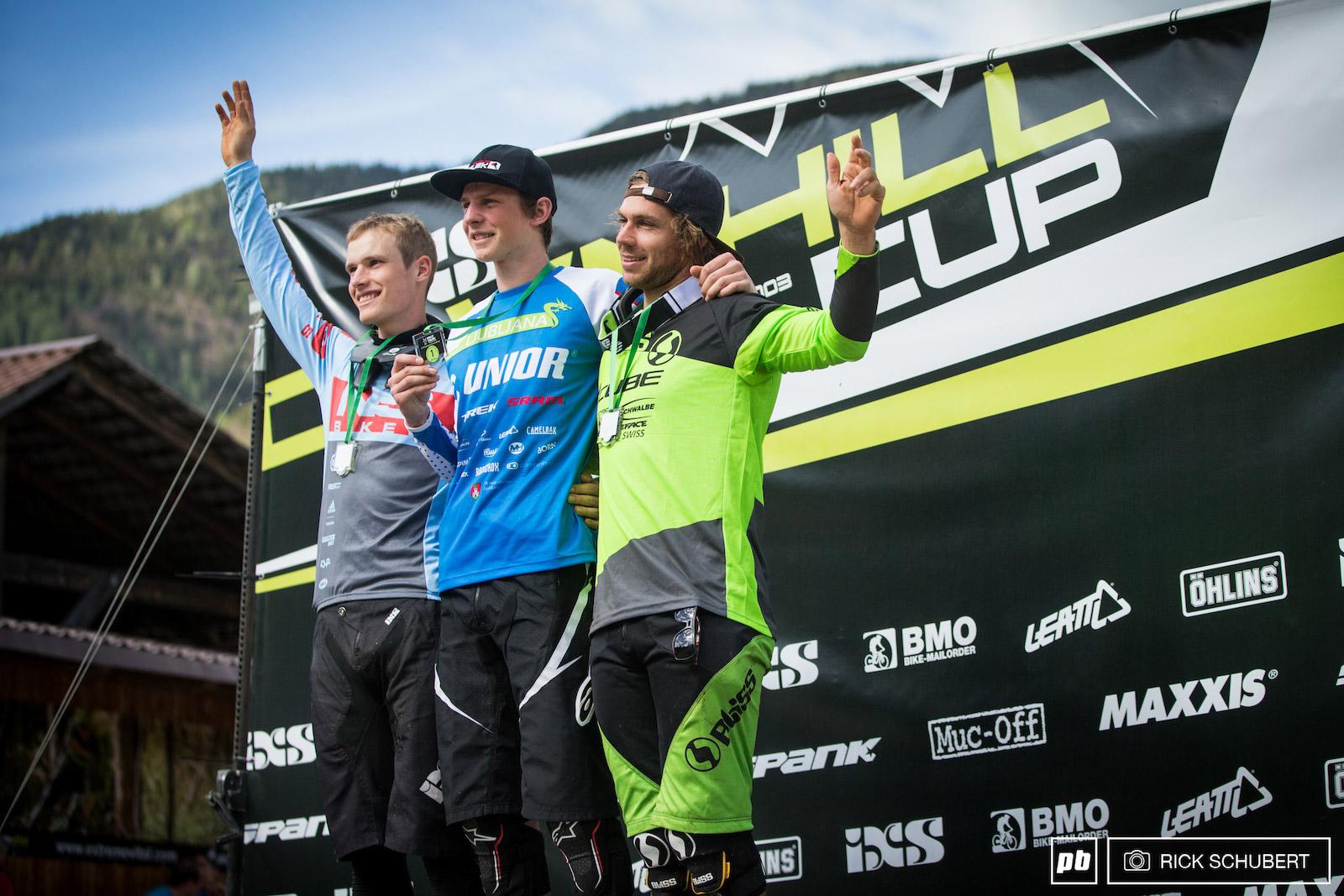 Jure ZABJEK, Slawomir LUKASIK et Matt WALKER sur le podium. © Rick Schubert