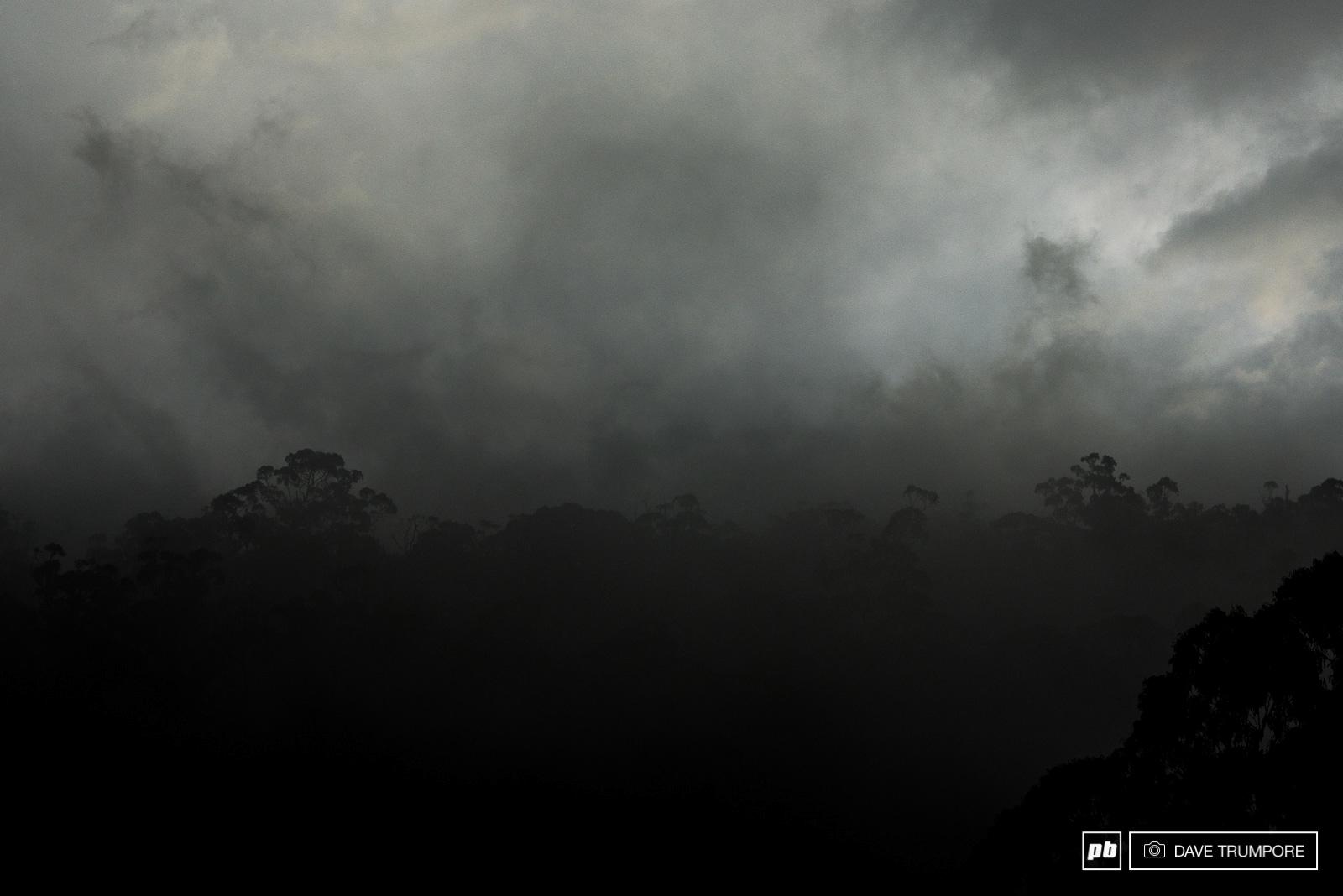 La Tasmanie ne s'est pas montrée sous son meilleur jour pour accueillir les pilotes des Enduro World Series ! © Dave Trumpore