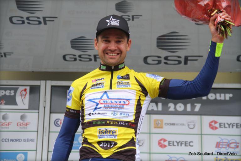 Marco Minnaard remporte le classement général du Rhône-Alpes Isère Tour. © Zoé Soullard – Direct Vélo
