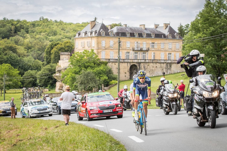 Deuxième étape en tête du Tour de France pour Yoann Offredo au guidon de son Cube Litening C:68. © Leon Van Bon