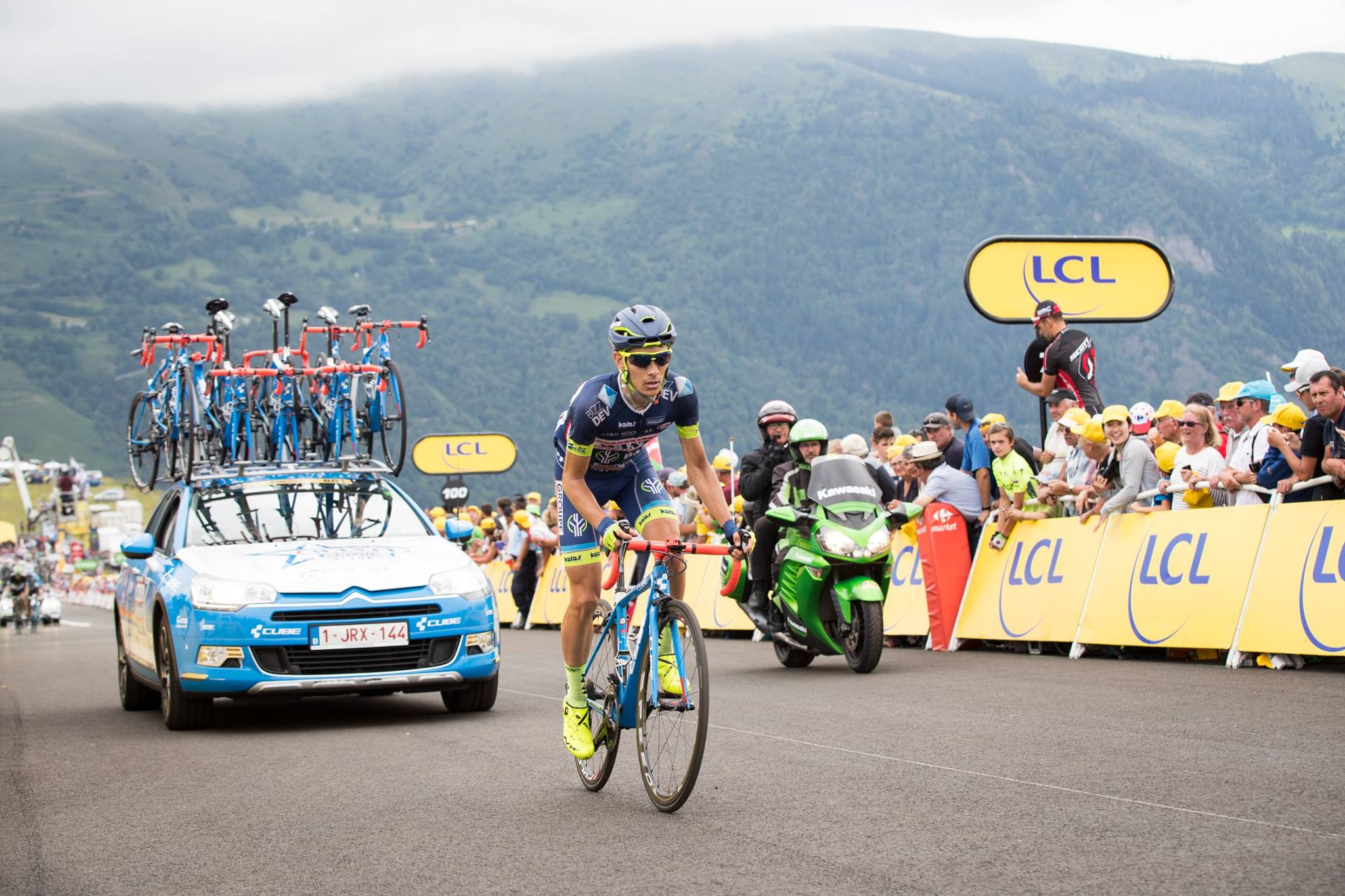 Magnifique 16ème place pour Guillaume Martin au guidon de son Cube Litening C:68 sur la première étape de montagne du Tour de France.