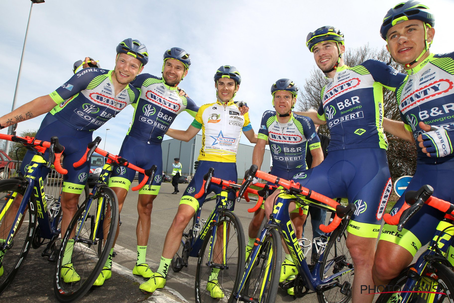 Victoire collective de la Wanty-Groupe Gobert sur le Circuit de la Sarthe. © Photo News