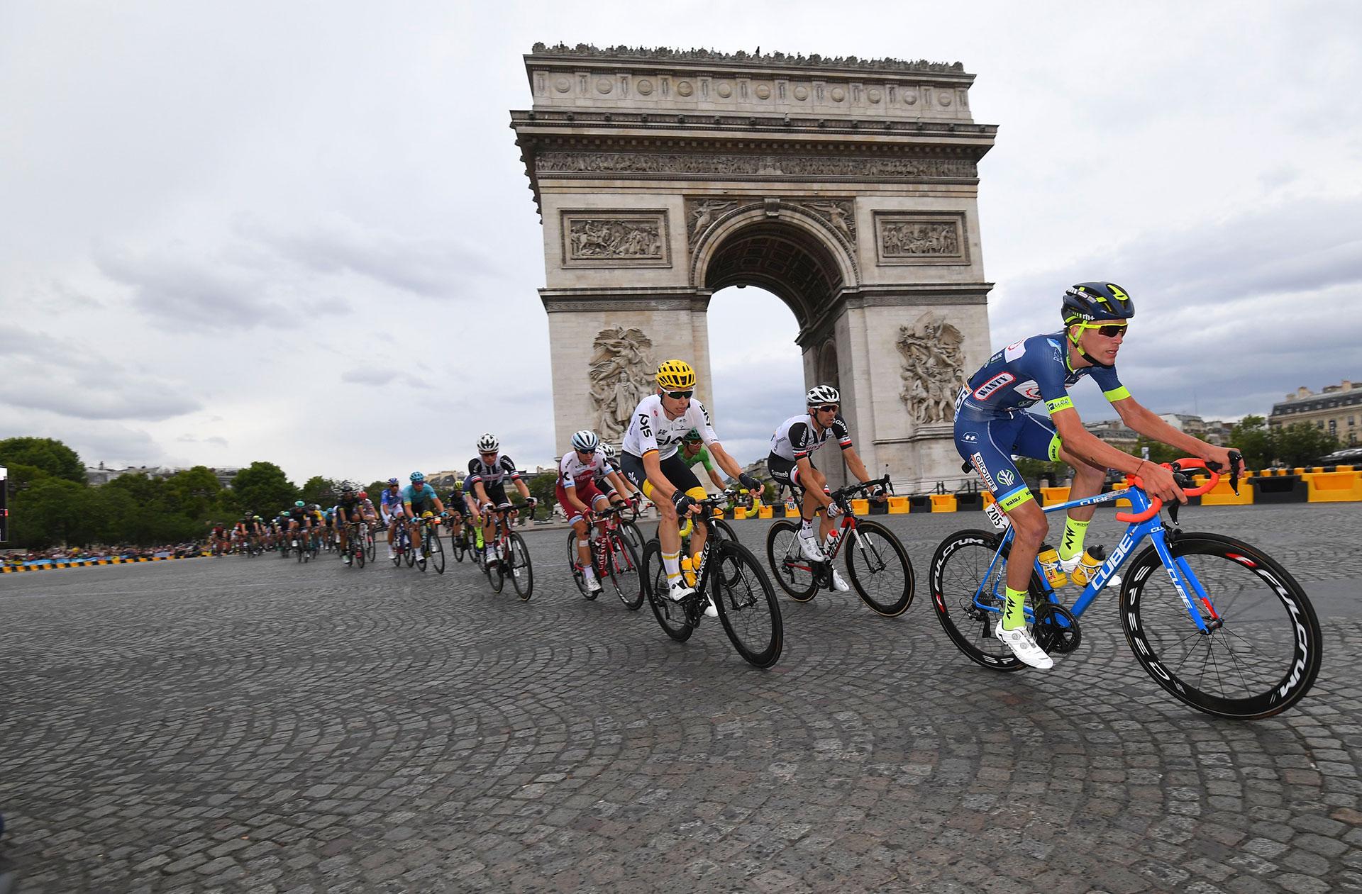 La Wanty-Groupe Gobert fait partie des rares équipes à avoir franchi la ligne d'arrivée finale au complet (9 coureurs).