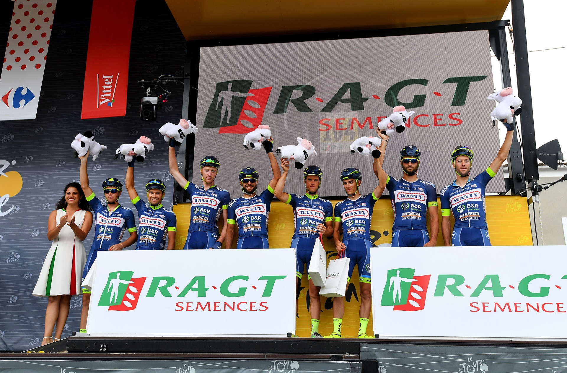 Les coureurs de la Wanty-Groupe Gobert ont fait preuve d'une combativité sans faille sur le Tour de France 2017.