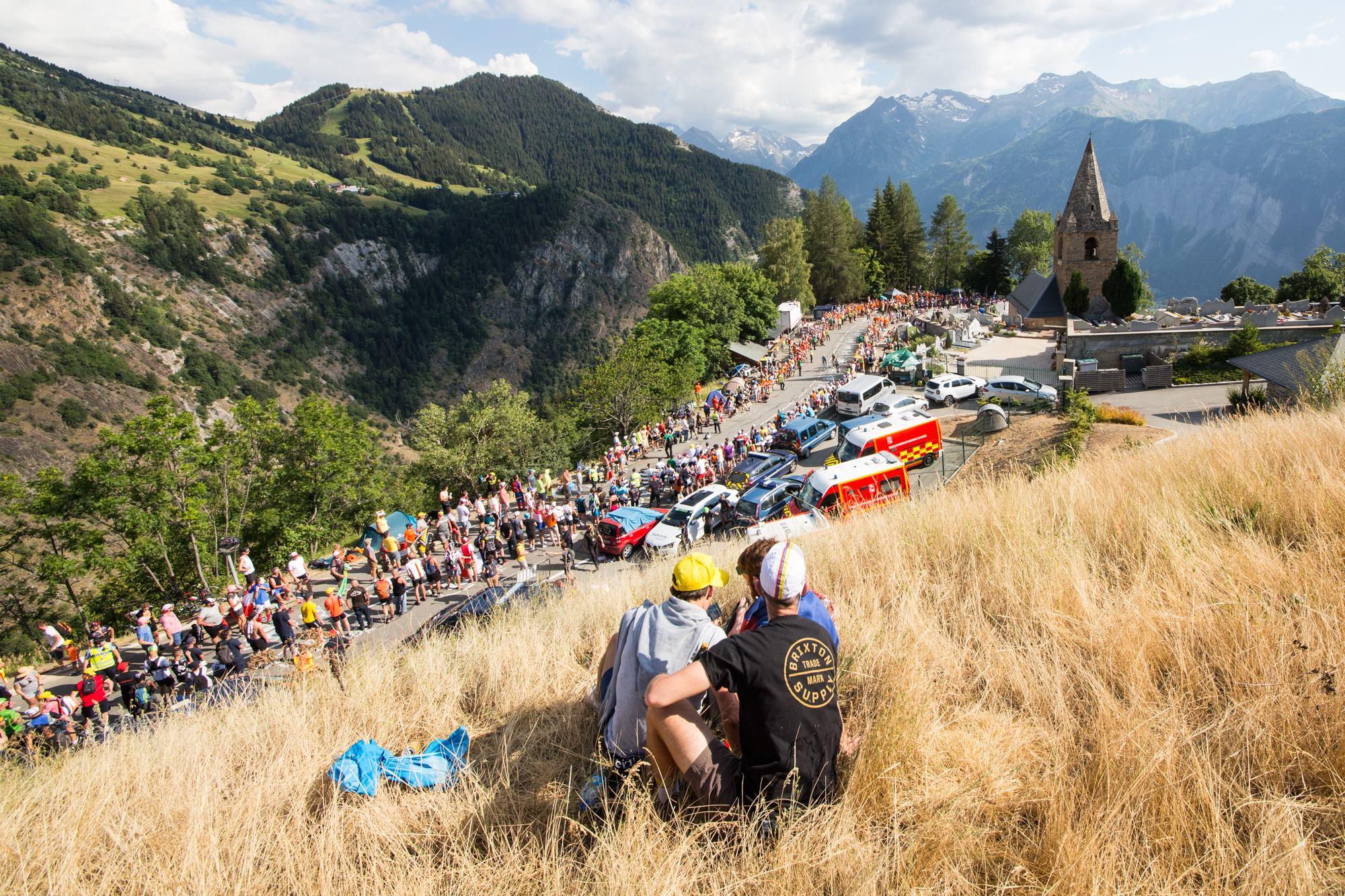 Le public était une nouvelle fois au rendez-vous dans le grimpée de l'Alpe d'Huez.