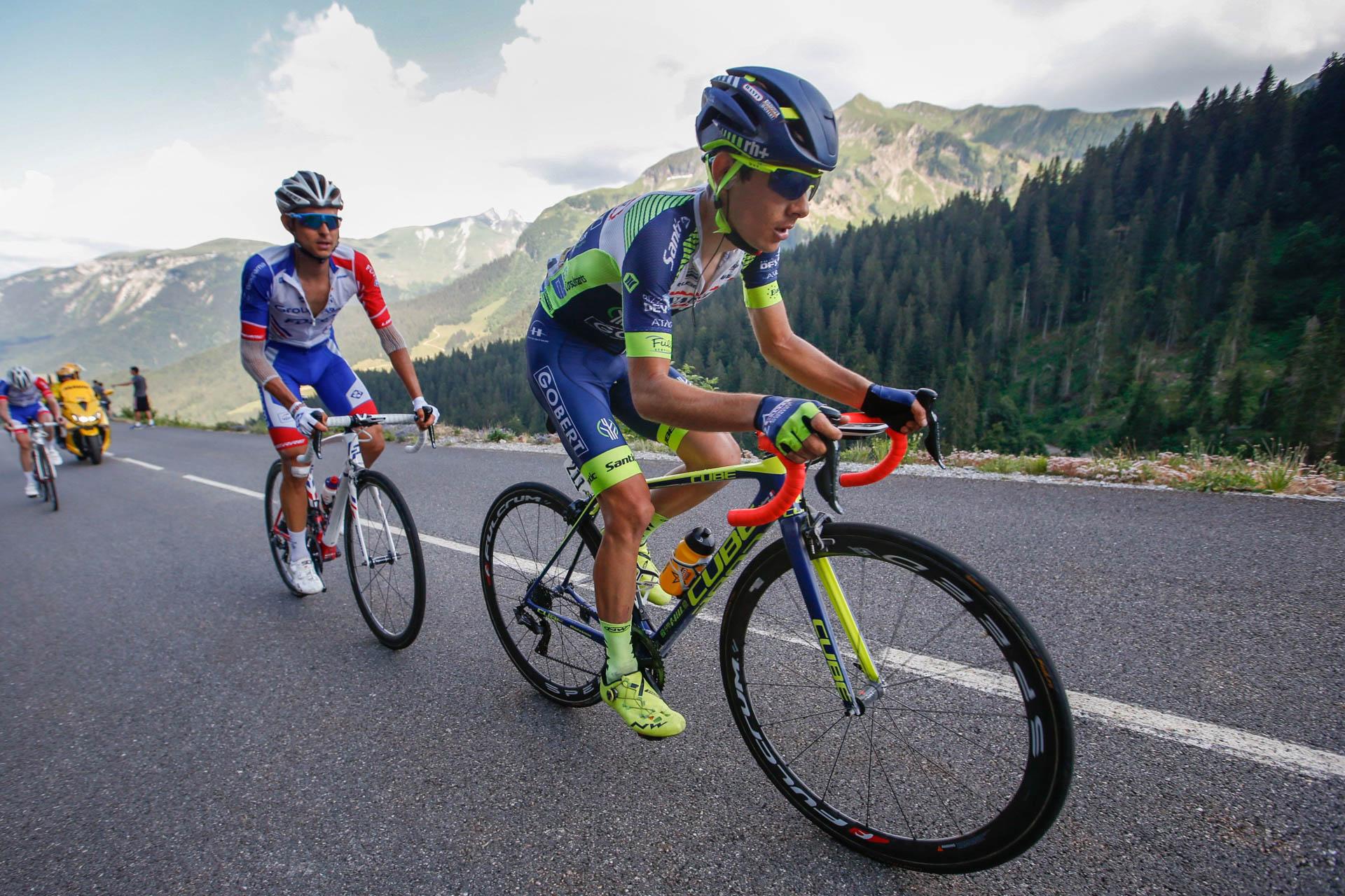 Guillaume Martin, 21ème du classement général du Tour de France 2018 et 3ème du classement du meilleur Jeune.